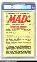 Mad #12 (EC, 1954) CGC VG/FN 5.0 White pages. Wood, Davis and Krigstein art. Overstreet 2002 GD 2.0 value = $48; FN 6.0...