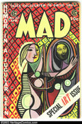 Golden Age (1938-1955):Humor, Mad #22 (EC, 1955) Condition: FN-. All by Elder plus photo-montages by Harvey Kurtzman. Overstreet 2002 FN 6.0 value = $115....