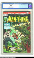 Bronze Age (1970-1979):Horror, Man-Thing #2 (Marvel, 1974) CGC NM 9.4 Cream to off-white pages.Overstreet 2002 NM 9.4 value = $18....