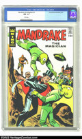 Silver Age (1956-1969):Superhero, Mandrake the Magician #5 (King Features Syndicate, 1967) CGC NM-9.2 White pages. This issue features a flying saucer cover ...
