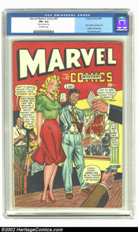 Marvel Mystery Comics #87 (Timely, 1948) CGC FN+ 6.5 Off-white pages. Solid mid-grade comic has the first Captain Americ...