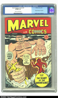 Marvel Mystery Comics #90 (Timely, 1949) CGC VF/NM 9.0 Cream to off-white pages. This is the very highest graded copy on...
