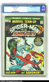 Marvel Team-Up #1 (Marvel, 1972) CGC VF+ 8.5 Off-white pages. Overstreet 2002 VF 8.0 value = $88; NM 9.4 value = $150...