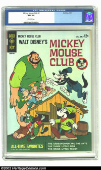 Mickey Mouse Club #1 (Gold Key, 1964) CGC NM 9.4 Off-white pages. Not listed in Overstreet