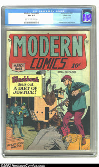 Modern Comics #83 Crowley copy (Quality, 1949) CGC VF+ 8.5 Light tan to off-white pages. Spirit appearance; Crandall, Wa...