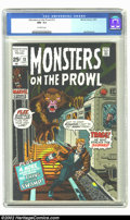 Bronze Age (1970-1979):Horror, Monsters on the Prowl #13 (Marvel, 1971) CGC NM- 9.2 Off-whitepages. This copy is currently the highest CGC graded to date....