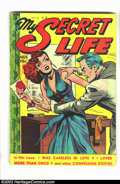 Golden Age (1938-1955):Romance, My Secret Life #22 (Fox Features Syndicate, 1949) Condition = VG-. Classic Fox good girl / crime title. Overstreet 2002 GD 2...