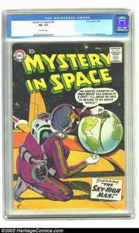 Mystery in Space #49 (DC, 1959) CGC FN+ 6.5 Off-white pages. Overstreet 2002 FN 6.0 value = $65