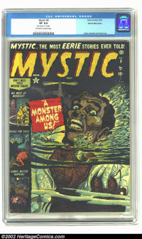 Mystic #8 White Mountain pedigree (Atlas, 1952) CGC VF 8.0 Off-white to white pages. Date stamp on first page. Art by Ay...