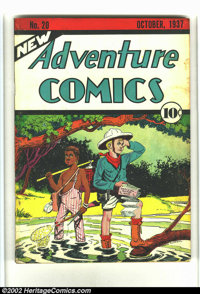 New Adventure Comics #20 (DC, 1937) Condition: VG. Cream pages. Cover and centerfold are firmly attached to the staples...