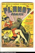 Golden Age (1938-1955):Science Fiction, Planet Comics #20 (Fiction House, 1942) Condition = Apparent VG-.Restoration includes: spine reinforced and staples reinfor...