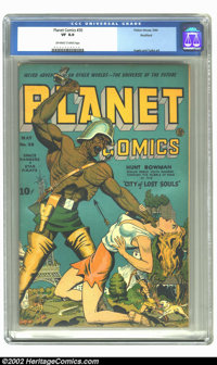 Planet Comics #30 Rockford pedigree (Fiction House, 1944) CGC VF 8.0 Off-white to white pages. This title, like all the...