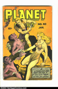 Golden Age (1938-1955):Science Fiction, Planet Comics #40 (Fiction House, 1946) Condition = GD-. Greatscience fiction title. Overstreet 2002 GD 2.0 value = $77....