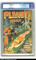 Golden Age (1938-1955):Science Fiction, Planet Comics #41 Cosmic Aeroplane pedigree (Fiction House, 1946)CGC VF/NM 9.0 Off-white pages. Not only is this from one o...