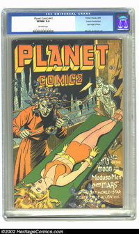 Planet Comics #41 Cosmic Aeroplane pedigree (Fiction House, 1946) CGC VF/NM 9.0 Off-white pages. Not only is this from o...