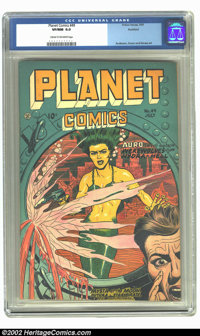 Planet Comics #49 Rockford pedigree (Fiction House, 1947) CGC VF/NM 9.0 Cream to off-white pages. This hugely influentia...