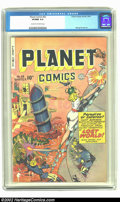Golden Age (1938-1955):Science Fiction, Planet Comics #63 (Fiction House, 1949) CGC VF/NM 9.0 Cream tooff-white pages. . Hunt Bowman battles to preserve his Citade...