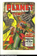 Golden Age (1938-1955):Science Fiction, Planet Comics #64 (Fiction House, 1950) Condition = GD+. This booksports one of the all-time best robot covers of the Golde...