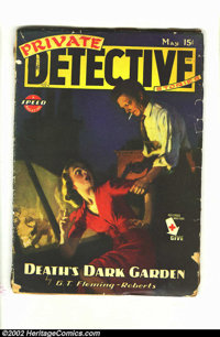 Private Detective Stories V 16 #5 (Trojan Publishing, May / 1945) Condition = GD-. This solid pulp is in lower grade, bu...