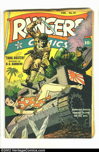 Rangers Comics #15 (Fiction House, 1944) Condition = GD. Classic Japanese WW II bondage cover. A couple of pages have ov...