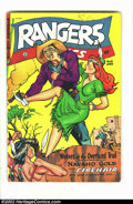 Golden Age (1938-1955):Adventure, Rangers Comics #65 (Fiction House, 1952) Condition = VG+. Great western comic featuring Firehair. Overstreet 2002 GD 2.0 val...