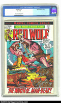 Bronze Age (1970-1979):Western, Red Wolf #4 (Marvel, 1972) CGC VF+ 8.5 Light tan to off-white pages. Syd Shores cover and art. Overstreet 2002 VF 8.0 value ...