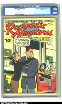 Romantic Adventures #2 (ACG, 1949) CGC VF 8.0 Off-white to white pages. Overstreet 2002 VF 8.0 value = $55
