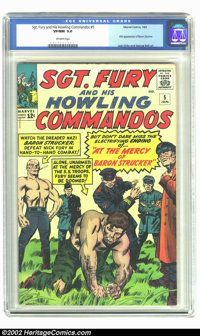 Sgt. Fury #5 (Marvel, 1964) CGC VF/NM 9.0 Off-white pages. 1st appearance of Baron Strucker. There have been no copies g...