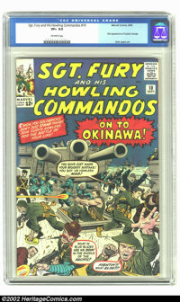 Sgt. Fury #10 (Marvel, 1964) CGC VF+ 8.5 Off-white pages. First appearance of Captain Savage. Overstreet 2002 VF 8.0 val...