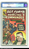 Silver Age (1956-1969):War, Sgt. Fury #27 (Marvel, 1966) CGC NM- 9.2 Off-white pages. Explanation of Sgt. Fury's eye patch. Only one copy has been grade...