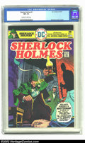 Bronze Age (1970-1979):Miscellaneous, Sherlock Holmes #1 (DC, 1975) CGC NM 9.4 Off-white to white pages.Simonson cover; Cruz art. Overstreet 2002 NM 9.4 value = ...