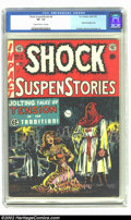 Golden Age (1938-1955):Horror, Shock SuspenStories #6 (EC, 1952) CGC VF- 7.5 Cream to off-whitepages. While Suspense Comics #3 is one of the most sought a...