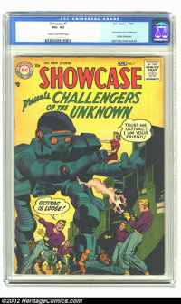 Showcase #7 (DC, 1957) CGC VG+ 4.5 Cream to off-white pages. Second appearance of the Challengers of the Unknown by Jack...