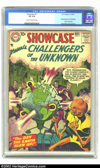 Showcase #11 (DC, 1957) CGC VG 4.0 Cream to off-white pages. Here is the third appearance of the Challengers of the Unkn...