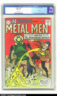 Showcase #38 (DC, 1962) CGC NM- 9.2 Off-white pages. In their second comic book appearance, the Metal Men set off to bat...