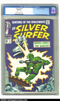 Silver Age (1956-1969):Superhero, The Silver Surfer #2 (Marvel, 1968) CGC NM 9.4 Off-white to white pages. Cool squarebound giant. Overstreet 2002 NM 9.4 valu...
