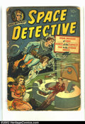 Golden Age (1938-1955):Science Fiction, Space Detective #1 (Avon, 1951) Condition = FR. Cover glued on.Interior is complete. Edge wear and chipping. Great Fifties ...