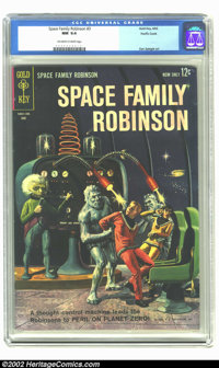Space Family Robinson #3 Pacific Coast pedigree (Gold Key, 1963) CGC NM 9.4 Off-white to white pages. Beautiful painted...