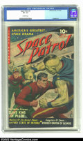 Golden Age (1938-1955):Science Fiction, Space Patrol #2 (Ziff-Davis, 1952) CGC VF- 7.5 Off-white pages.Overstreet 2002 VF 8.0 value = $388....