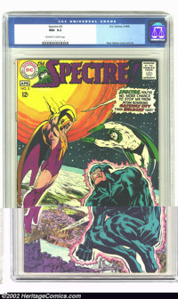 The Spectre #3 (DC, 1968) CGC NM- 9.2 Off-white to white pages. Neal Adams cover and art. Overstreet 2002 NM 9.4 value =...