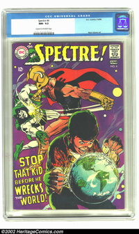 The Spectre #4 (DC, 1968) CGC NM- 9.2 Cream to off-white pages. Neal Adams art. Overstreet 2002 NM 9.4 value = $100