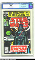 """Modern Age (1980-Present):Science Fiction, Star Wars #39 (Marvel, 1980) CGC NM+ 9.6 Off-white to white pages.Part one of """"Empire Strikes Back"""" movie adaptation. Overs..."""