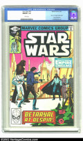 """Modern Age (1980-Present):Science Fiction, Star Wars #43 (Marvel, 1981) CGC NM/MT 9.8 White pages. Part fiveof """"Empire Strikes Back"""" movie adaptation. Overstreet 2002..."""