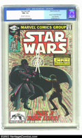"""Modern Age (1980-Present):Science Fiction, Star Wars #44 (Marvel, 1981) CGC NM+ 9.6 Off-white to white pages.Part 6 of """"Empire Strikes Back"""" movie adaptation. Overstr..."""
