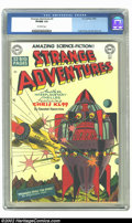 Golden Age (1938-1955):Science Fiction, Strange Adventures #3 (DC, 1950) CGC VF/NM 9.0 Off-white pages.Here is an extremely high-grade early issue from DC's classi...