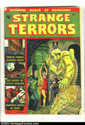 Golden Age (1938-1955):Horror, Strange Terrors #1 (St. John, 1952) Condition = GD. Classic bondagecover on the first issue of this great Fifties precode h...