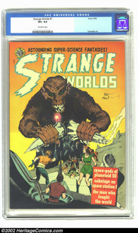 Strange Worlds #7 (Avon, 1952) CGC VF+ 8.5 Off-white pages. Books like this, from this time period, as basically impossi...