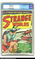 Golden Age (1938-1955):Science Fiction, Strange Worlds #9 (Avon, 1952) CGC FN/VF 7.0 Off-white to whitepages. This is one of Avon's most popular titles among colle...