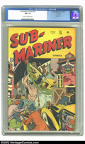"""Sub-Mariner Comics #19 """"D"""" Copy pedigree (Timely, 1946) CGC NM- 9.2 Cream to off-white pages. On this great co..."""