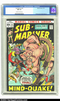 The Sub-Mariner #43 (Marvel, 1971) CGC NM 9.4 Off-white to white pages. Giant Sized and a black cover. Talk about imposs...